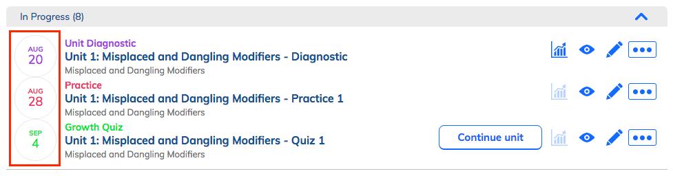 How do I create a Unit to link Diagnostics, Practice, and ...