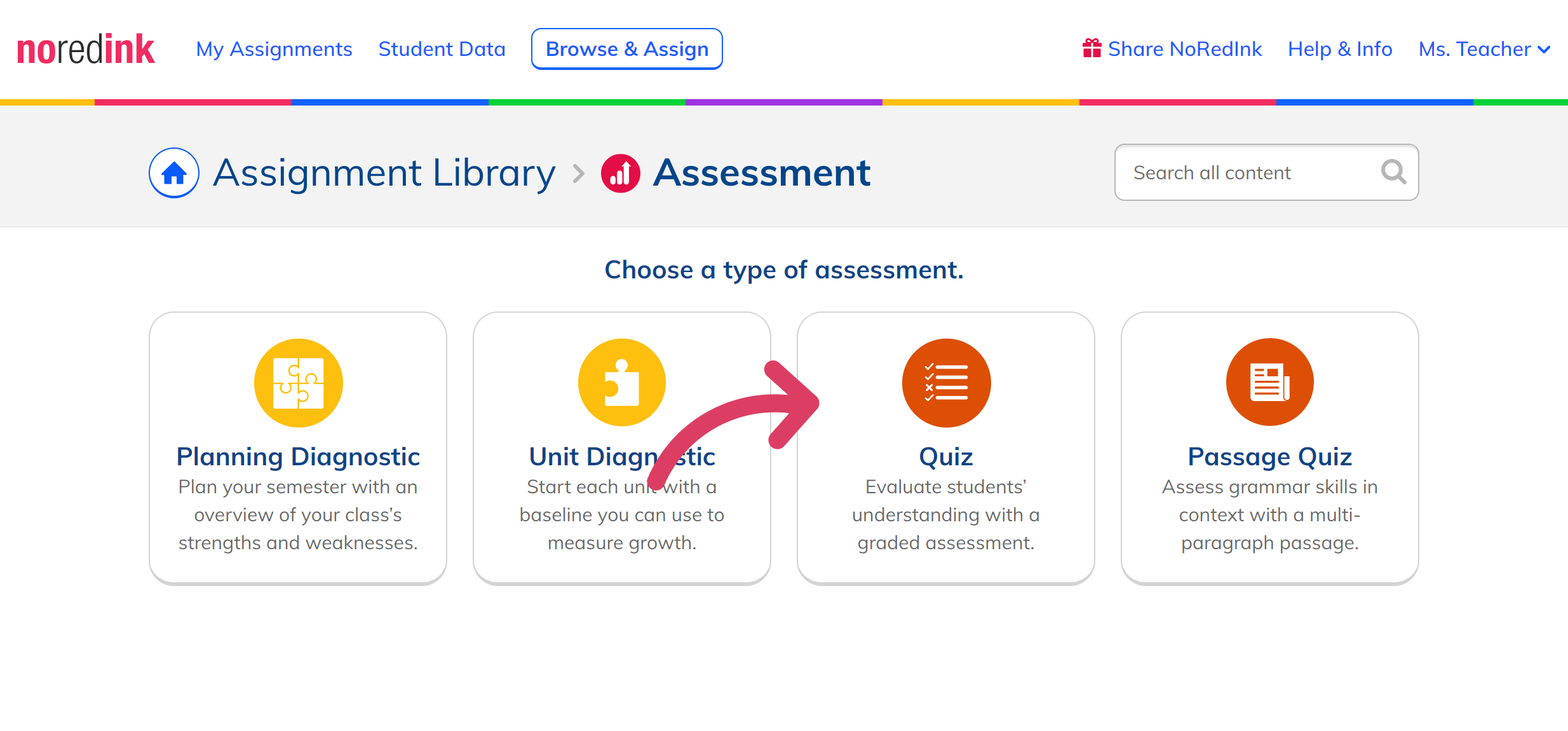 Learn about Quizzes - NoRedInk Help Center